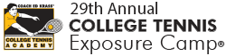 29th Annual College Tennis Exposure Academy